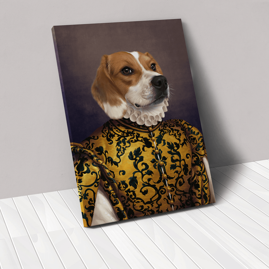 The Golden Queen - Custom Pet Canvas