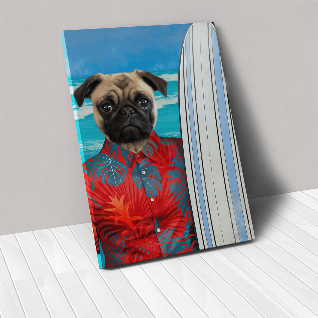 The Surfer - Custom Pet Canvas