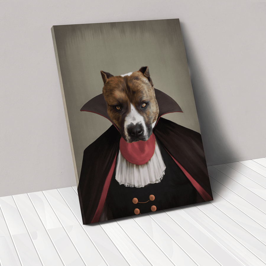 The Vampire - Custom Pet Canvas