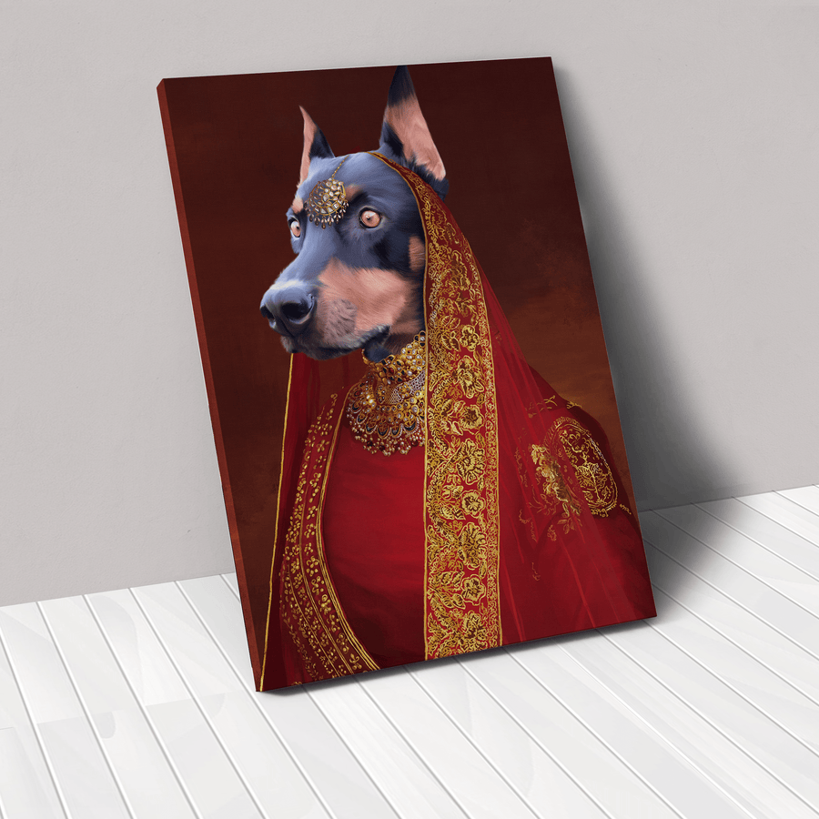 The Indian Rani - Custom Pet Canvas