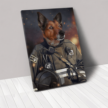 Load image into Gallery viewer, The Firefighter - Custom Pet Canvas