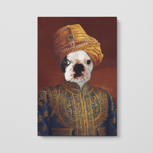 Load image into Gallery viewer, The Indian Raja - Custom Pet Canvas