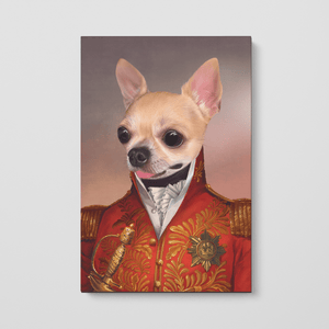 The Red General - Custom Pet Canvas