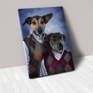 The Step Brothers - Custom Pet Canvas