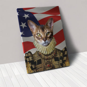 The Dame - USA Flag Edition - Custom Pet Canvas
