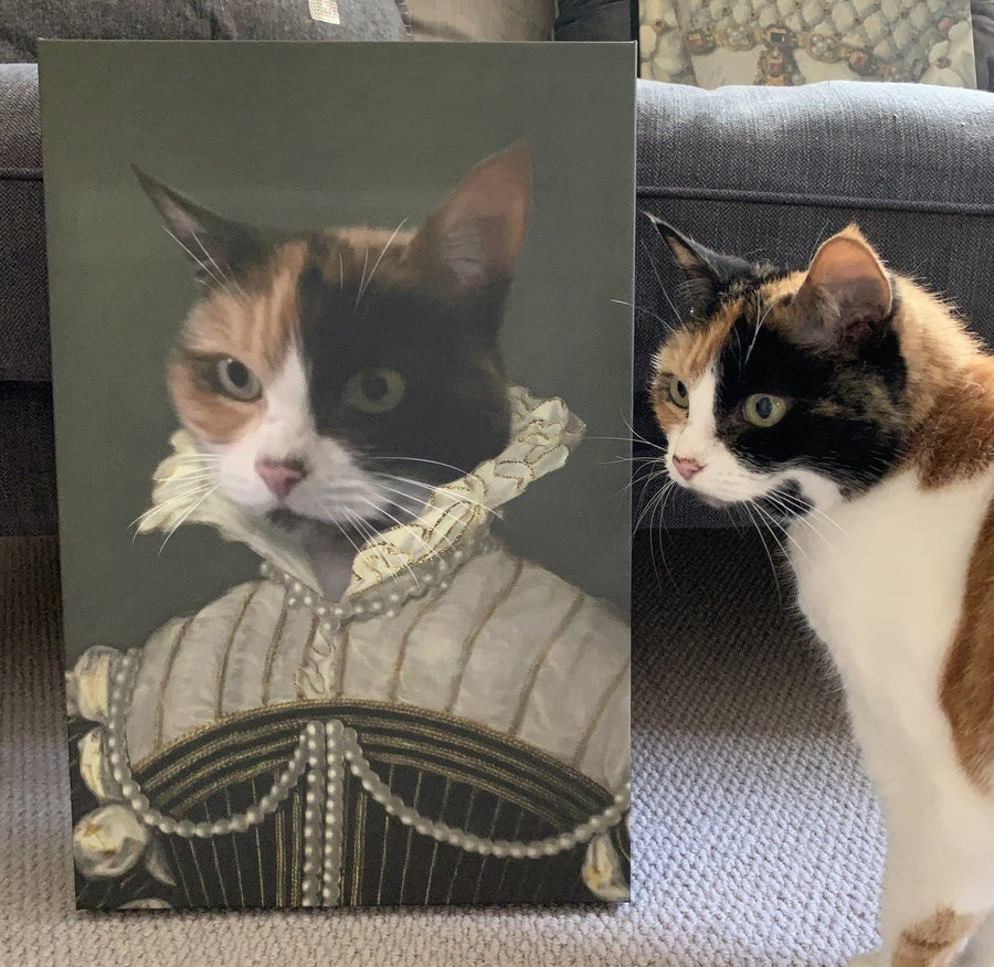 The Pearled Lady - Custom Pet Canvas