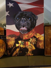 Load image into Gallery viewer, The Veteran - USA Flag Edition - Custom Pet Canvas