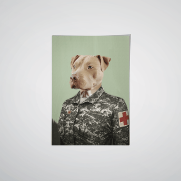 The Female Army Medic - Custom Pet Poster
