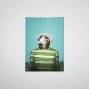 The Green Candy Cane - Custom Pet Poster