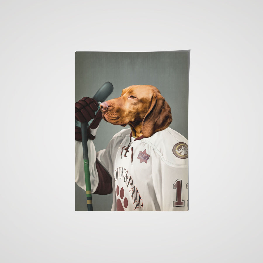 The Ice Hockey Player - Custom Pet Poster