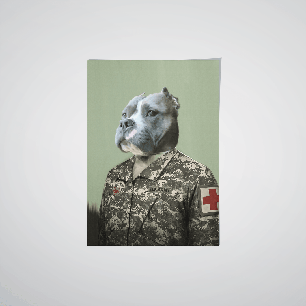 The Male Army Medic - Custom Pet Poster