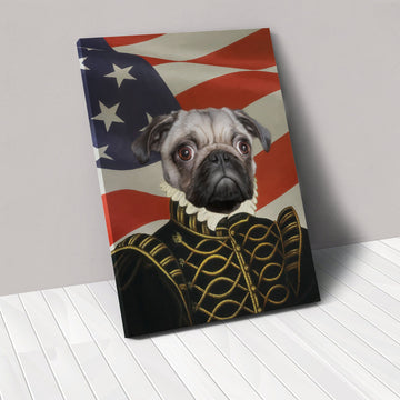 The Noble - USA Flag Edition - Custom Pet Canvas