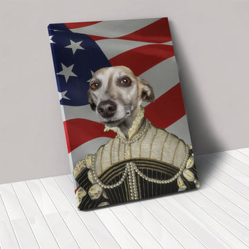 The Pearled Lady - USA Flag Edition - Custom Pet Canvas
