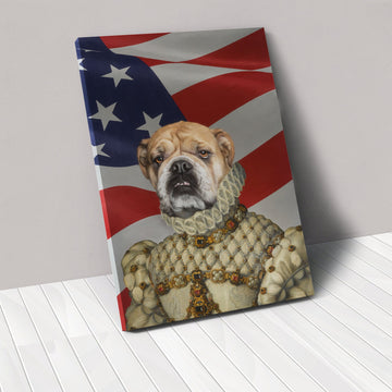 The Princess - USA Flag Edition - Custom Pet Canvas