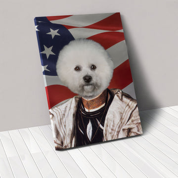 The Savant - USA Flag Edition - Custom Pet Canvas