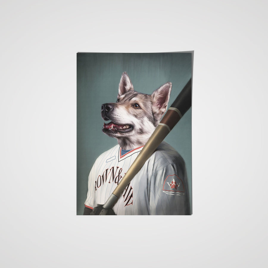 The Baseball Player - Custom Pet Poster