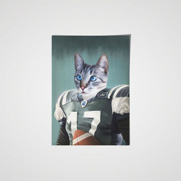 The Football Player - Custom Pet Poster