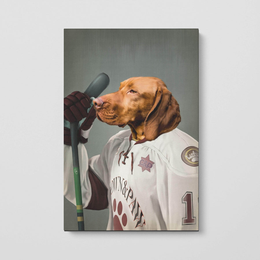 The Ice Hockey Player - Custom Pet Canvas