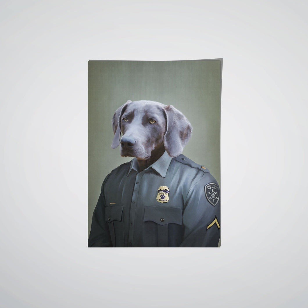 The Male Police Officer - Custom Pet Poster