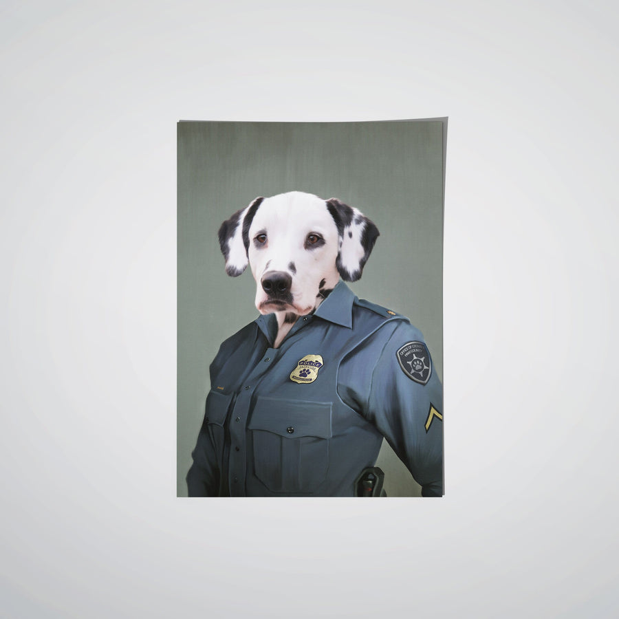 The Female Police Officer - Custom Pet Poster
