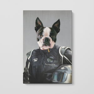 The Race Car Driver - Custom Pet Canvas