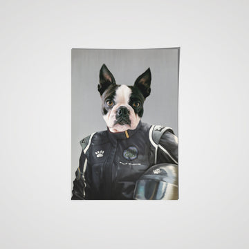 The Race Car Driver- Custom Pet Poster