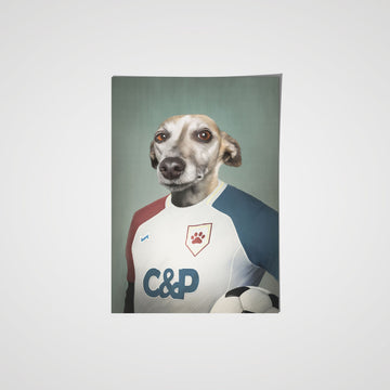The Soccer Player - Custom Pet Poster