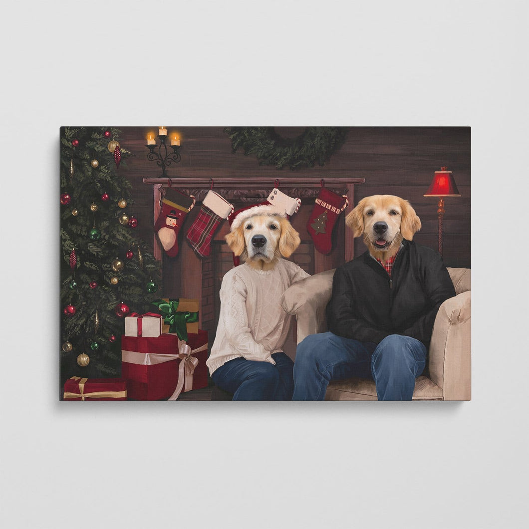 The Family Christmas - Custom Pet Canvas