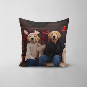 The Family Christmas - Custom Throw Pillow