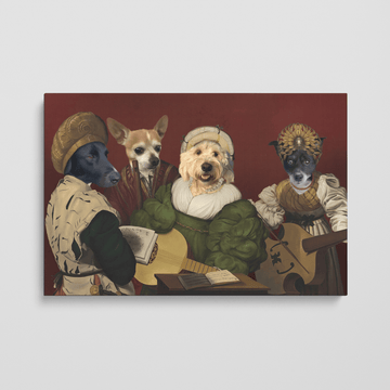 The Quartet - Custom Pet Canvas