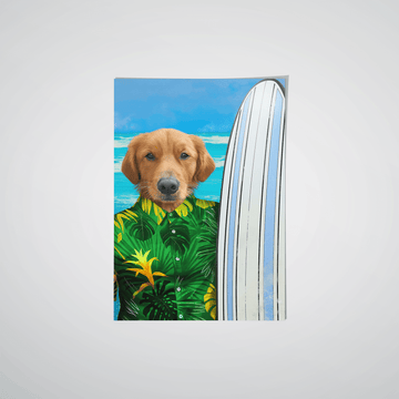 The Surfer - Custom Pet Poster