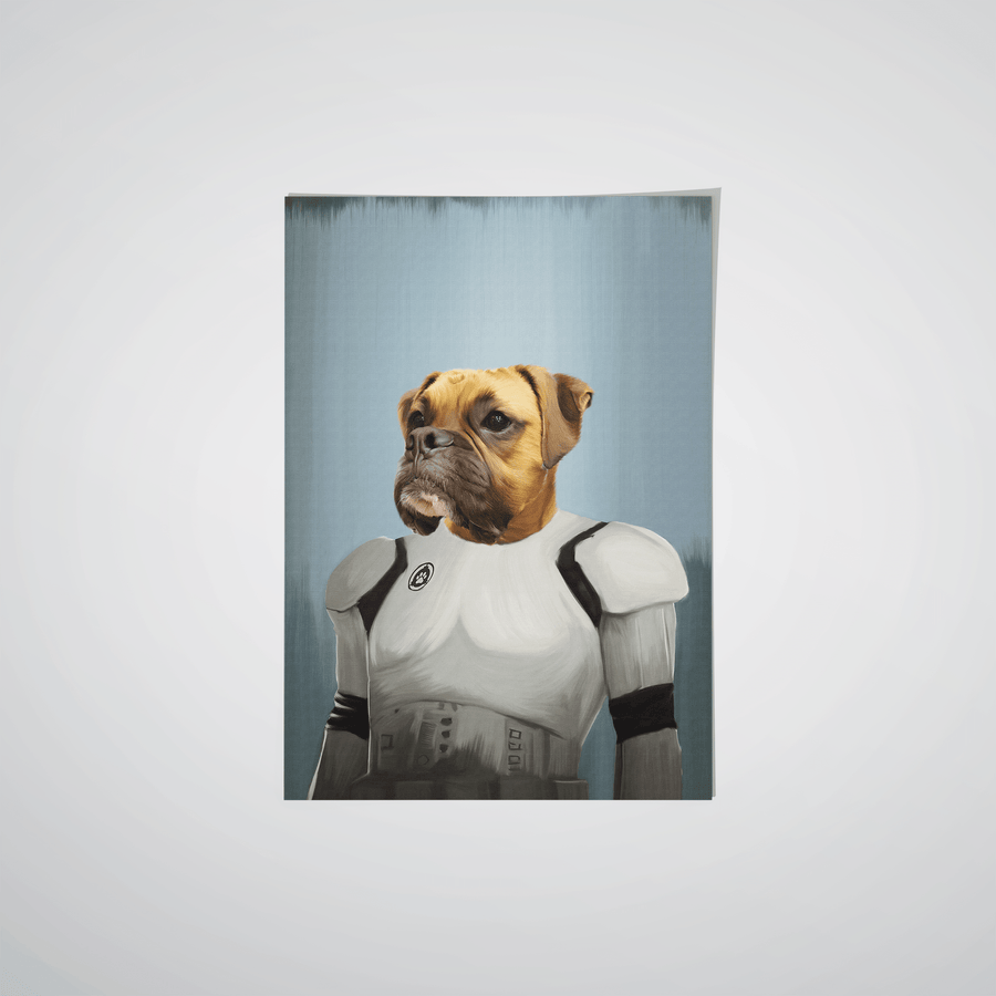 The Trooper - Custom Pet Poster
