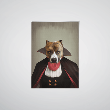 The Vampire - Custom Pet Poster