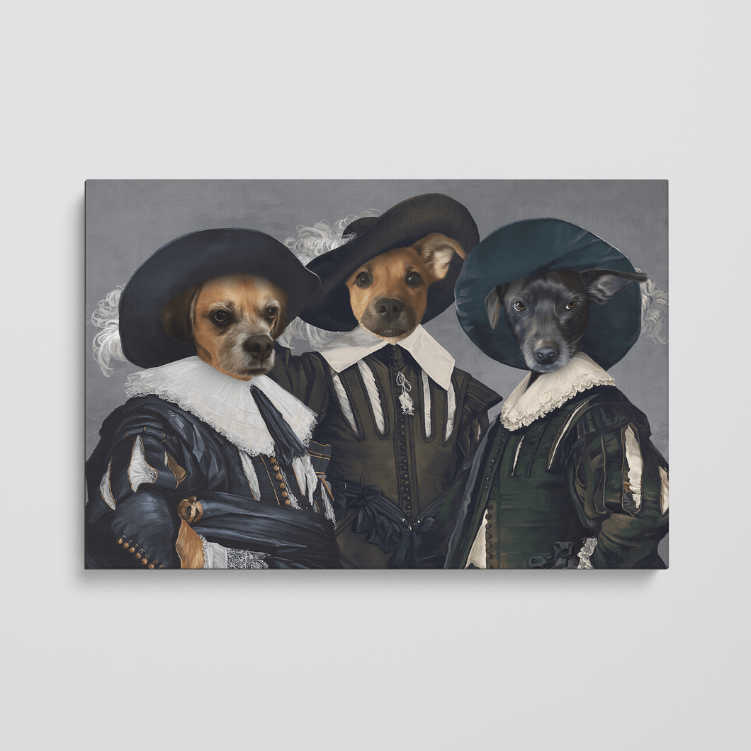 The Three Musketeers - Custom Pet Canvas
