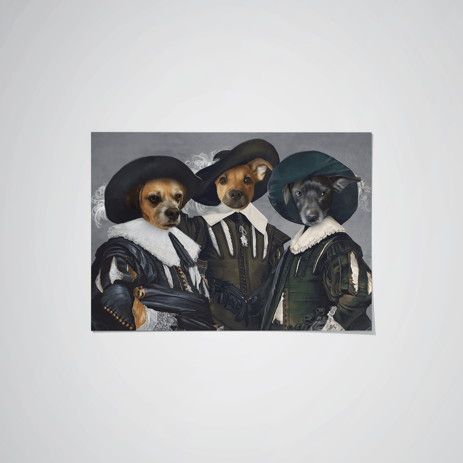The Three Musketeers - Custom Pet Poster