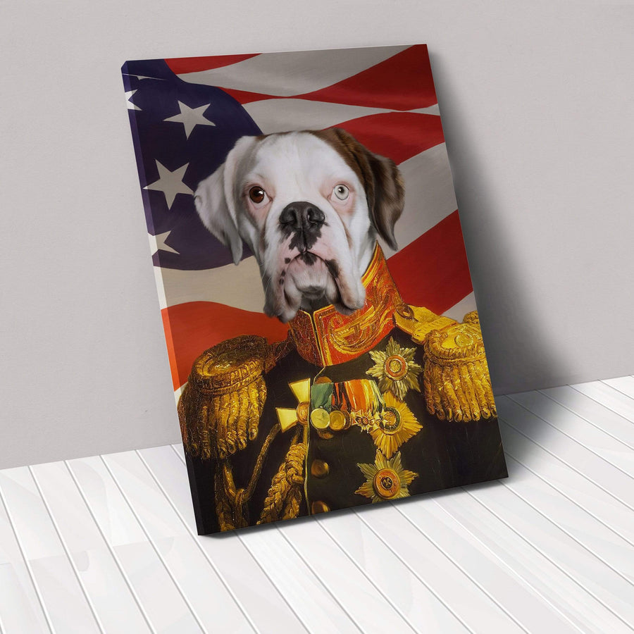The Veteran - USA Flag Edition - Custom Pet Canvas
