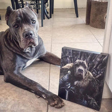 Load image into Gallery viewer, The King in the North - Custom Pet Canvas