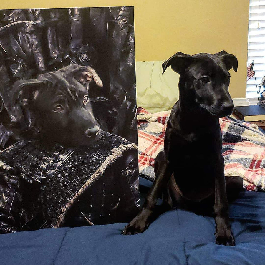 The Lone Wolf - Custom Pet Canvas