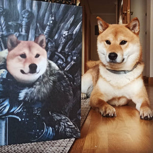 The King in the North - Custom Pet Canvas