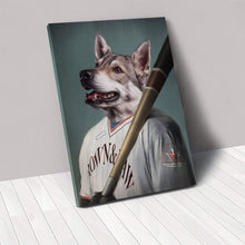 Load image into Gallery viewer, The Baseball Player - Custom Pet Canvas