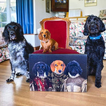 Load image into Gallery viewer, The Three Queens - Custom Pet Canvas