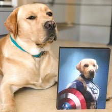 Load image into Gallery viewer, Captain Pawmerica - Custom Pet Canvas