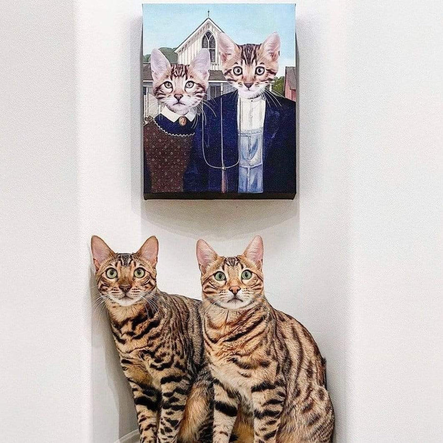 The American Gothic - Custom Pet Canvas