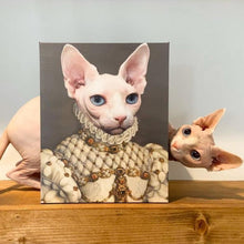 Load image into Gallery viewer, The Princess - Custom Pet Canvas