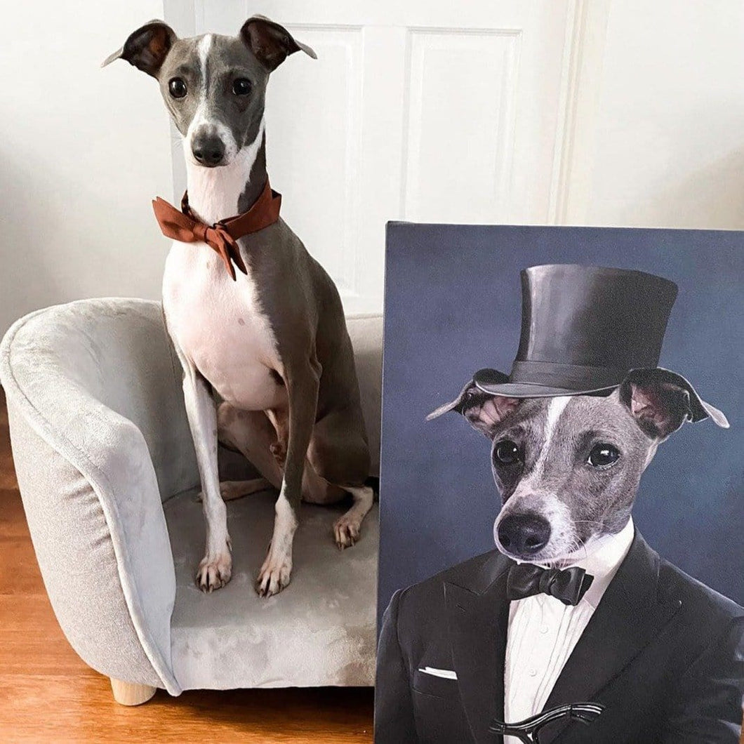 The Gentleman - Custom Pet Canvas