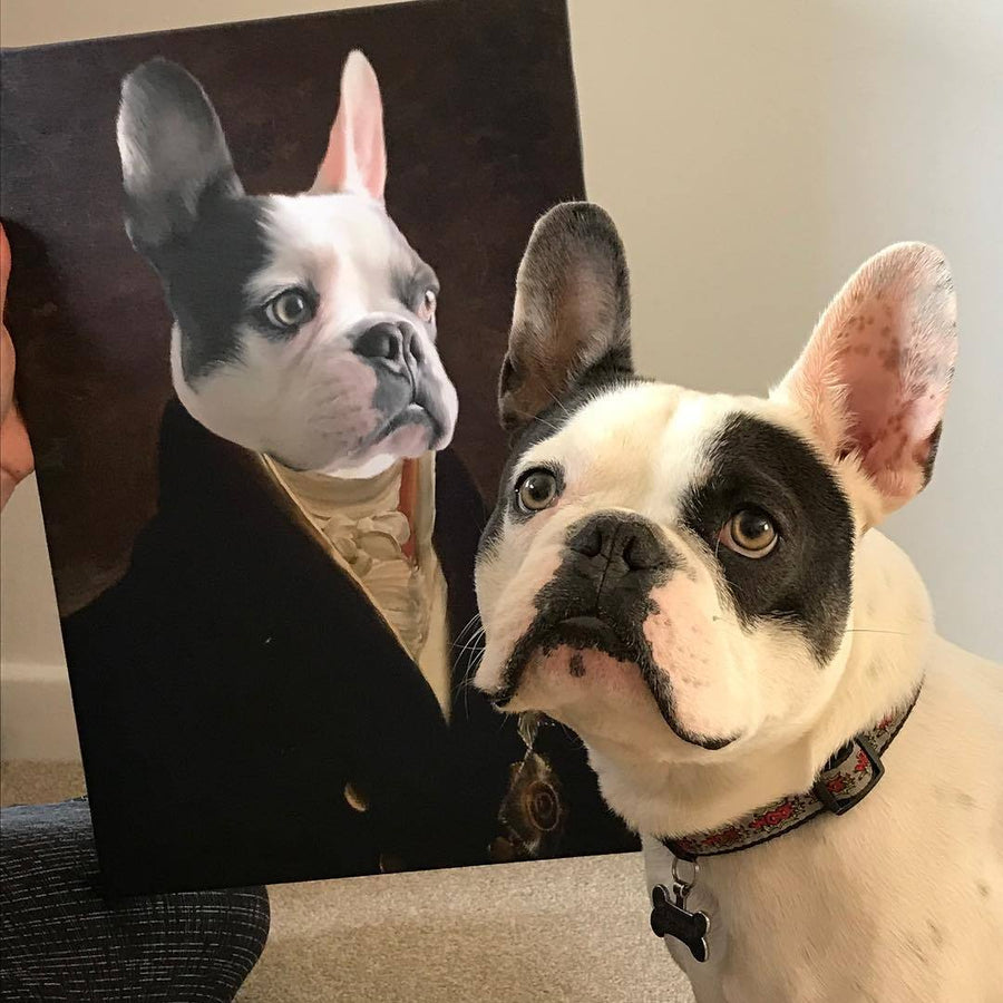 7210221cb2c2 The Count | Custom Renaissance Pet Canvas | Crown And Paw – Crown & Paw