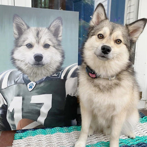 The Football Player - Custom Pet Canvas