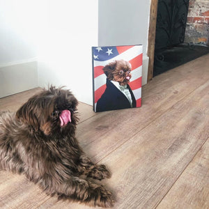 The Ambassador - USA Flag Edition - Custom Pet Canvas
