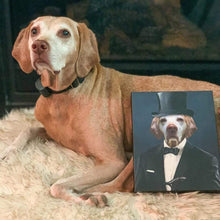 Load image into Gallery viewer, The Gentleman - Custom Pet Canvas