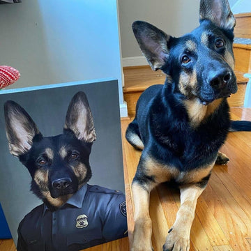 The Male Police Officer - Custom Pet Canvas
